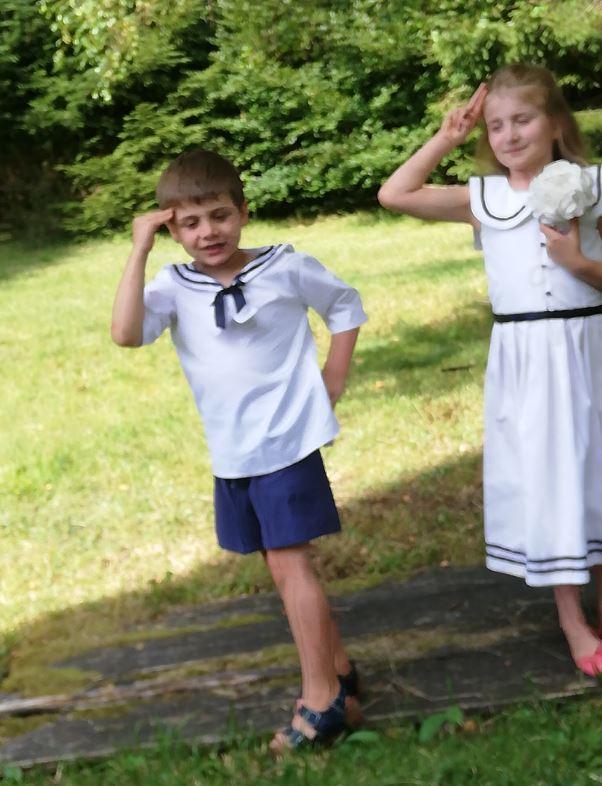 Les enfants d'honneur de Fifi au jardin Mariages_i2123