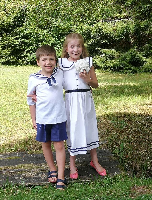 Les enfants d'honneur de Fifi au jardin Mariages_i2123456