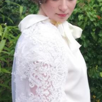 mariage robe Années Folles Fifi au jardin (2)