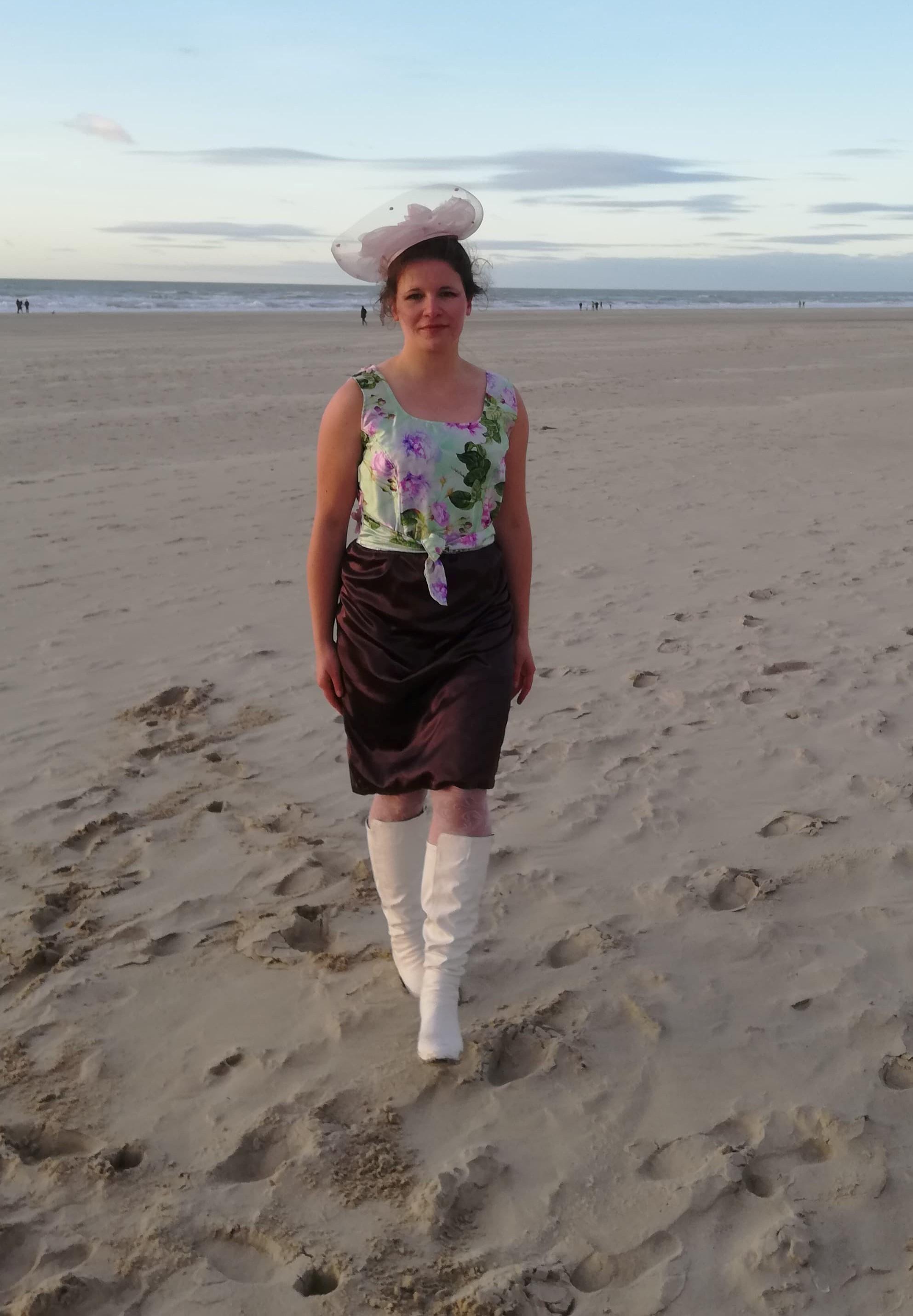 Robe les creations jupe et haut reversibles pour cocktail vert anis mauve soie sauvage les mariages by fifi au jardin p5 2
