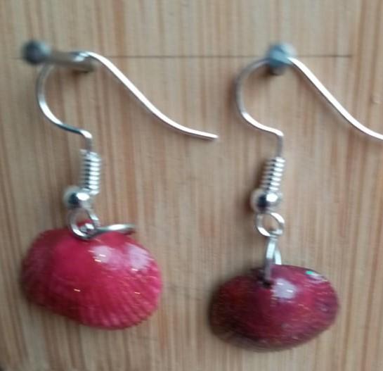 Boucles d oreilles fifi au jardin precious ete 2021 coquillages rouges