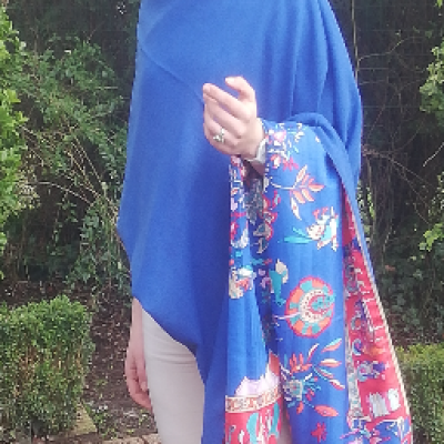 Cape poncho soie et laine reversible collection capsule bords de mer printemps ete 2019 gamme femmes pose 16