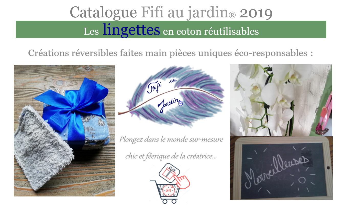 Catalogue fifi au jardin 2019 les lingettes bio en coton reutilisables premiere page