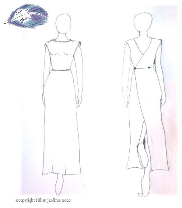 Choisissez le croquis robe annees folles les tentations les robes a personnaliser de fifi au jardin vd