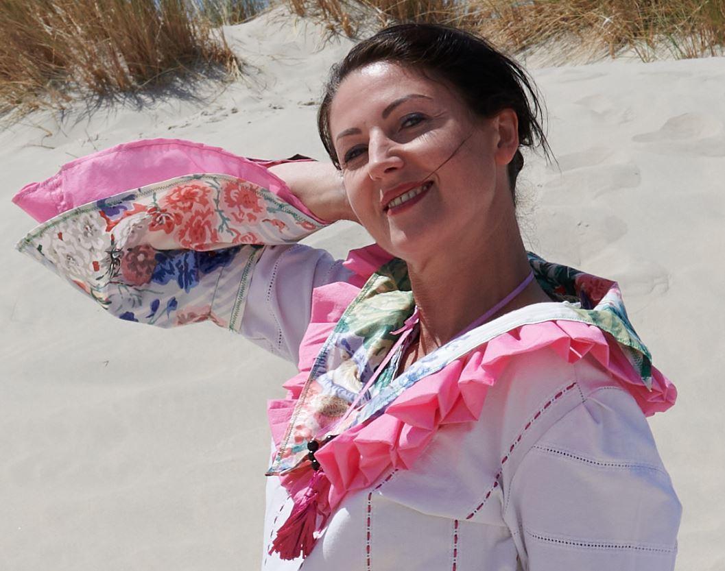 Collier la cueillette accessoire collection un grand vent de fleurs fifi au jardin printemps ete i2