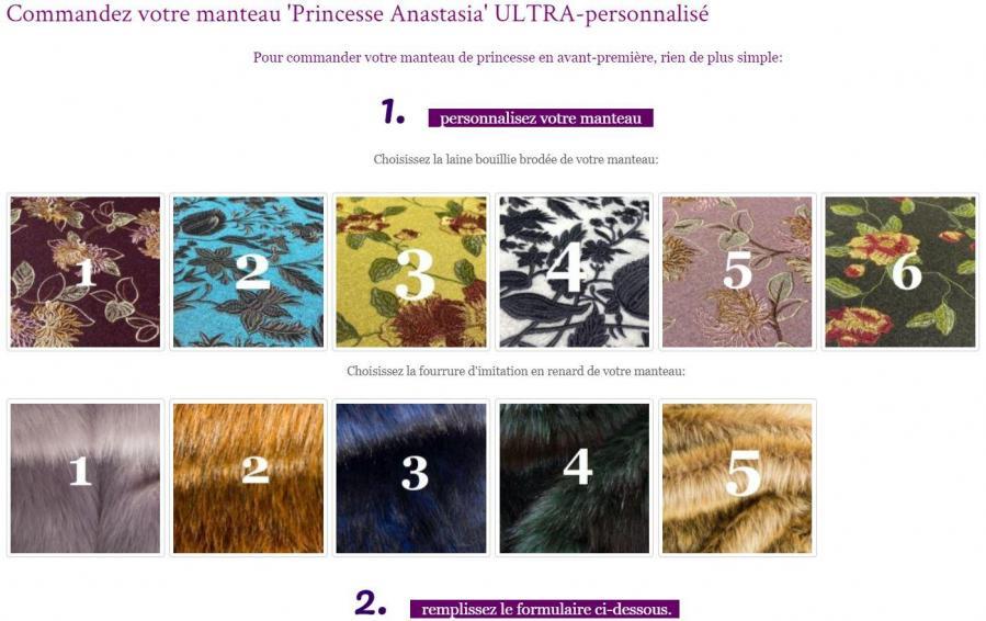 Commandez votre manteau princesse anastasia ultra personnalise de la collection inedite fifi au jardin 2021 2022 une annee chez fifi