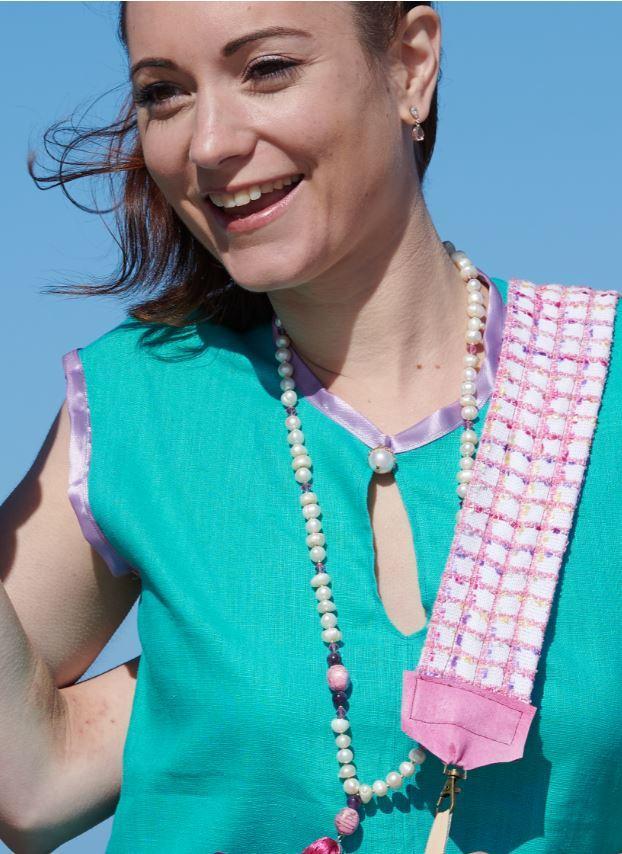 Detail accessoire sautoir bain de soleil un grand vent de fleurs i2