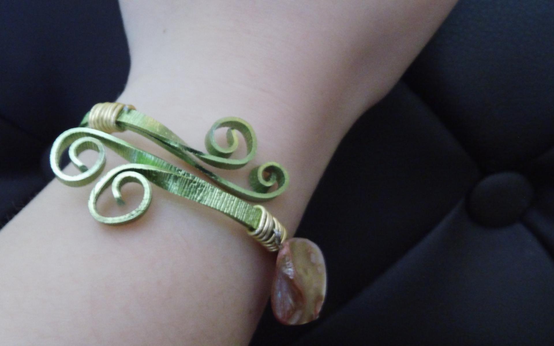 Bracelet éco-responsable original réglable magique 'Nénuphar' Fifi au jardin