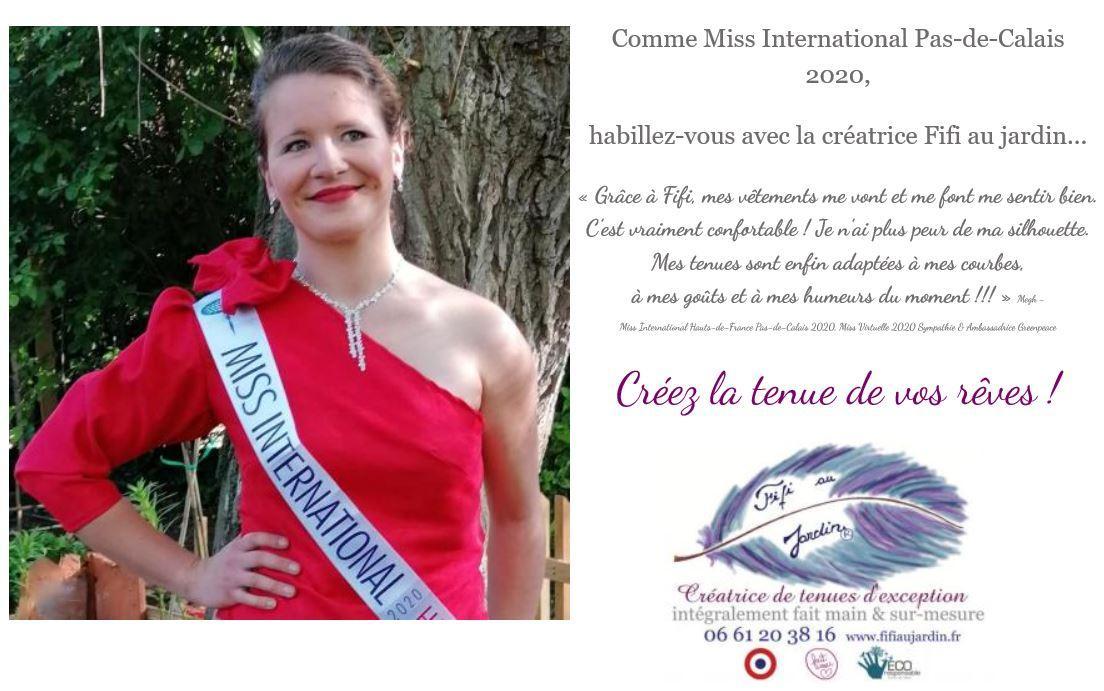 Entete site comme miss international pas de calais 2020 habillez vous avec fifi au jardin