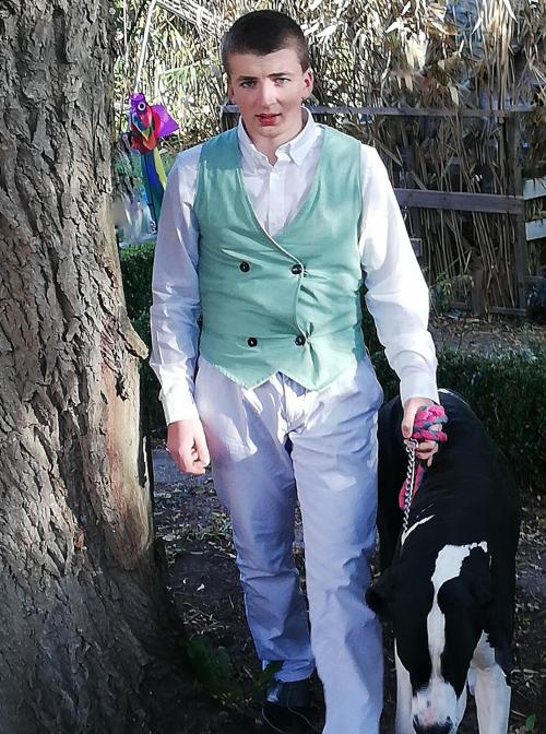 Gilet british reversible l elegant vert homme fifi au jardin