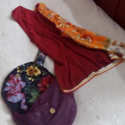 Haut recto verso mandarine soie et lin sans manches leger collection ete fifi au jardin gamme femmes i6