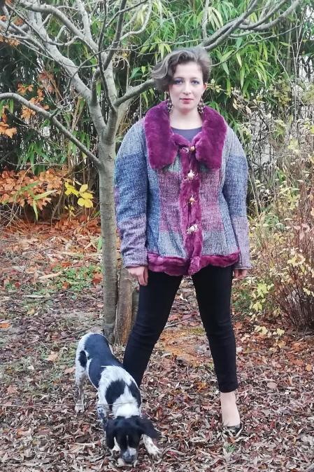 Image nouvelle annee veste russe reversible faite main 2019 fifi au jardin