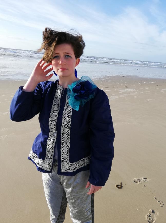 Master piece pantalon souple et veste de princesse fifi au jardin collection capsule bords de mer printemps ete 2019 gamme femmes
