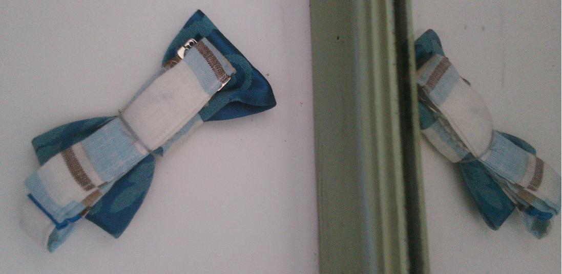 Noeud papillon bleu marine lys 3d surbrillant et toile de jouy bleu ciel fifi au jardin gamme hommes gamme mariages d2