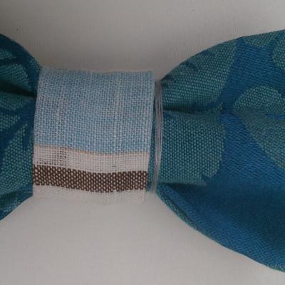 Noeud papillon bleu marine lys 3d surbrillant et toile de jouy bleu ciel fifi au jardin gamme hommes gamme mariages