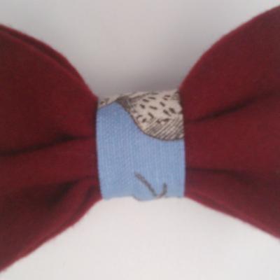 Noeud papillon bleu toile de jouy et velours rubis fifi au jardin gamme hommes gamme mariages d2