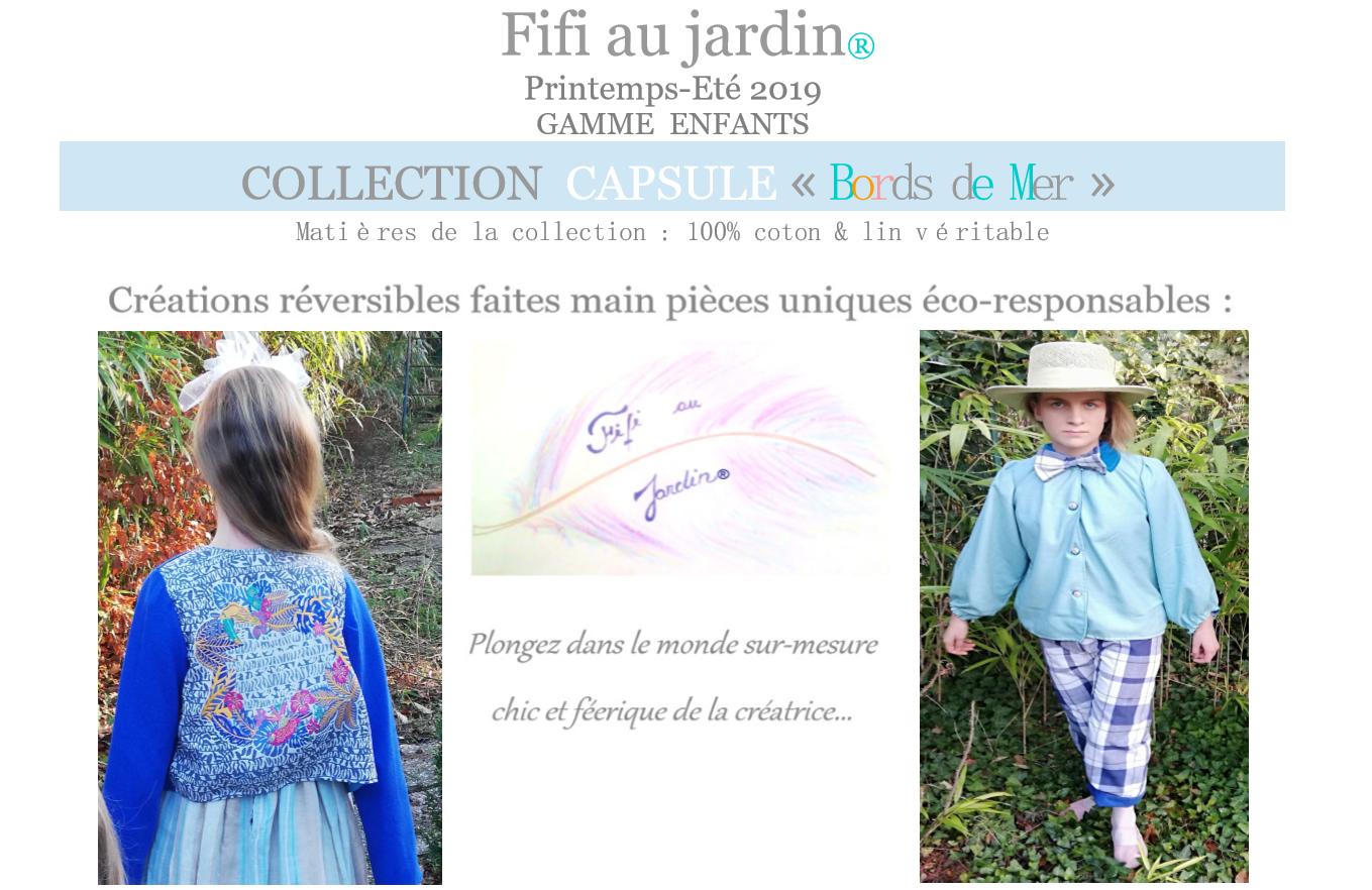 P1 categorie catalogue fifi au jardin printemps ete 2019 gamme enfants collection capsule bords de mer 1
