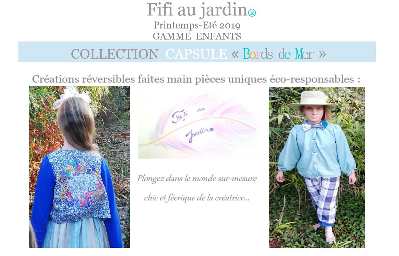P1 categorie catalogue fifi au jardin printemps ete 2019 gamme enfants collection capsule bords de mer