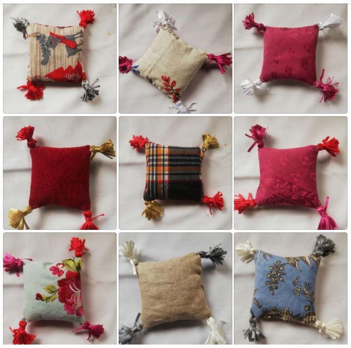 Patchwork des pochons coussins de lavande de la collection automne hiver fifi au jardin maison i