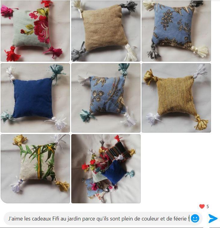 Patchwork des pochons coussins de lavande de la collection automne hiver fifi au jardin maison