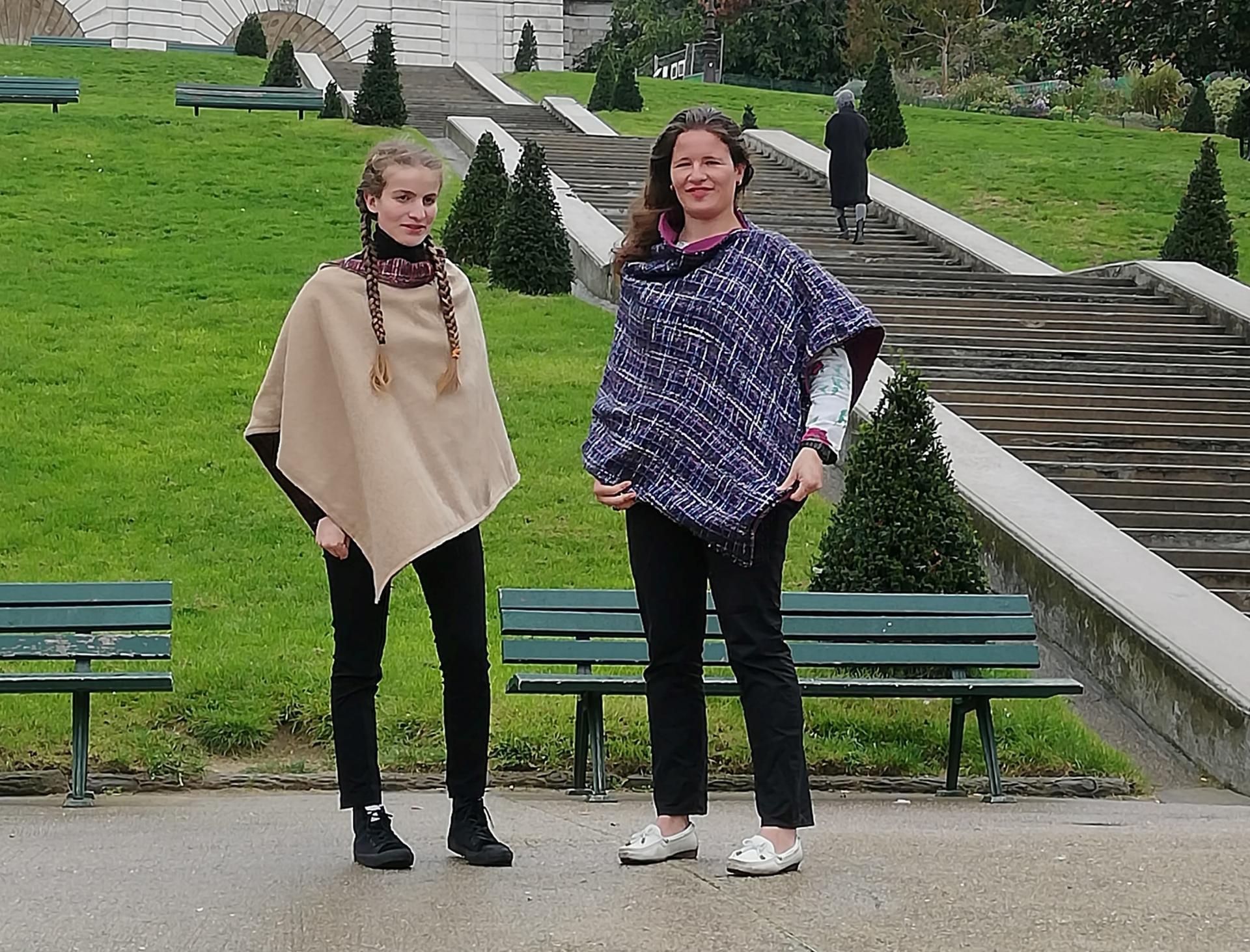Poncho mesdames pour la collection automne hiver fifi au jardin i012