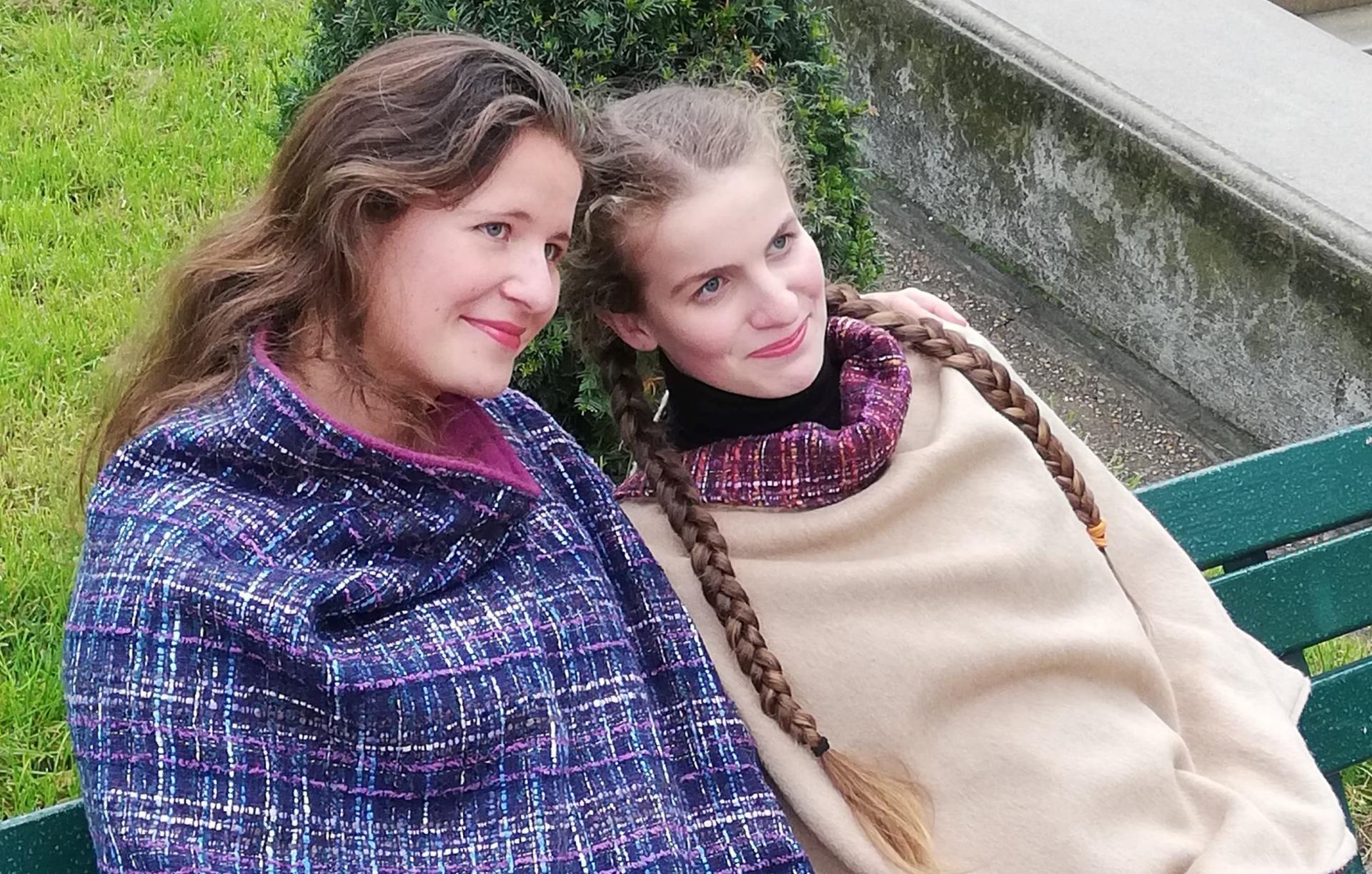 Poncho mesdames pour la collection automne hiver fifi au jardin i017 2