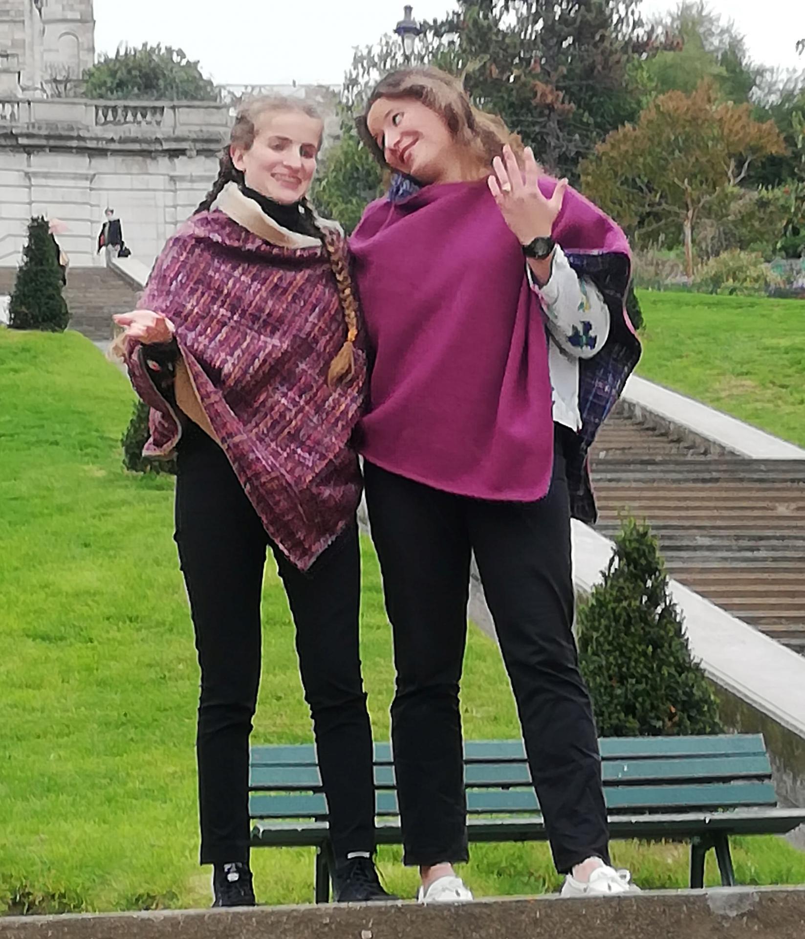 Poncho mesdames pour la collection automne hiver fifi au jardin i018