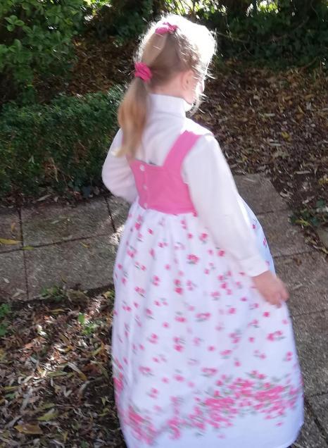 Robe de princesse reversible 7 8 ans fraise fifi au jardin