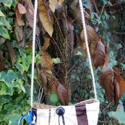 Sac reversible l astucieux blanc brun beige fifi au jardin