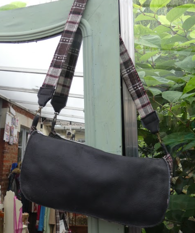 Sac reversible l elegant cuir veritable gris et rayures blanc gris rose fifi au jardin daily gamme maroquinerie i2