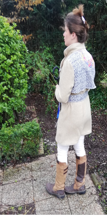 Trench reversible beige couleurs bleu fifi au jardin